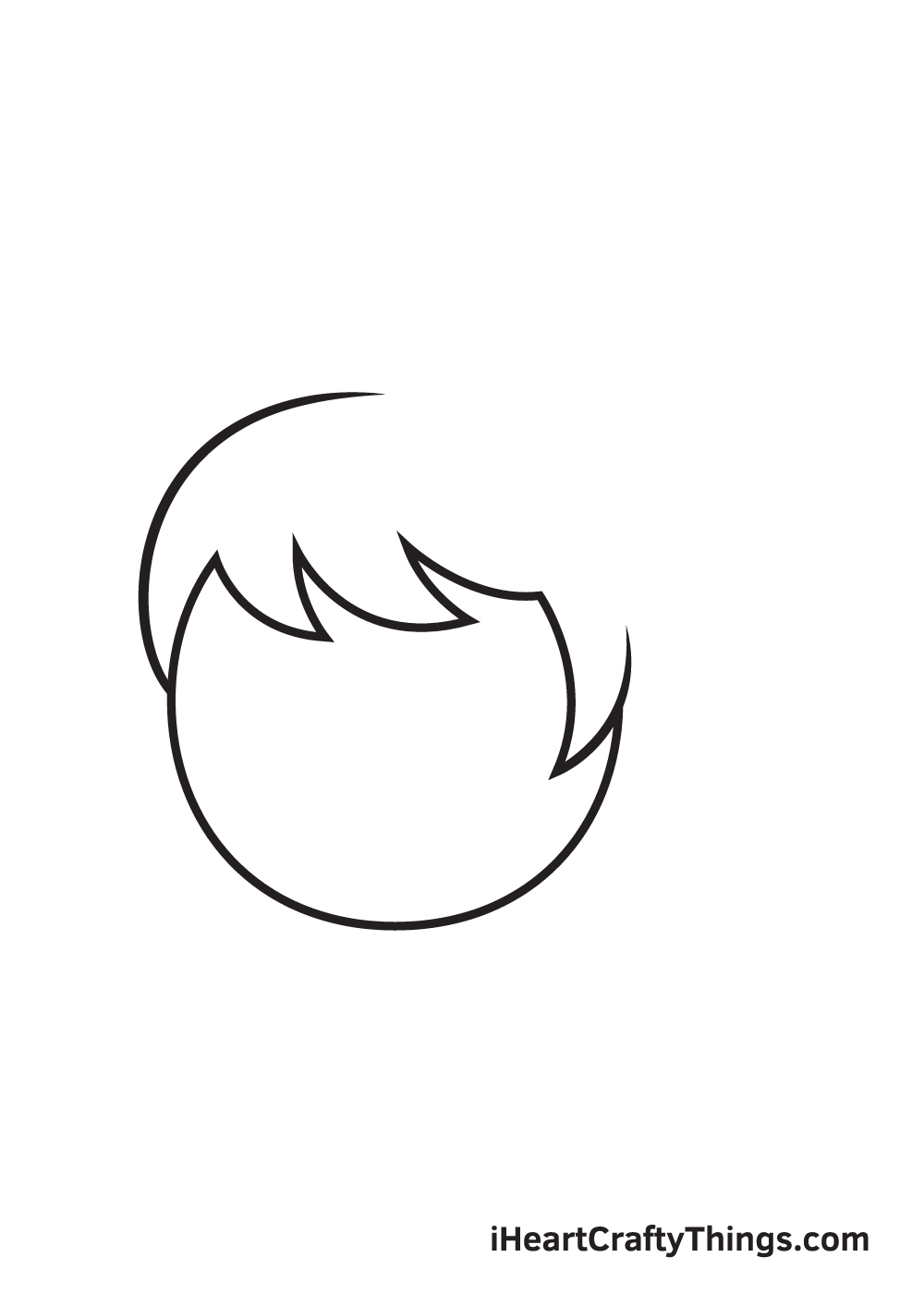 ponytail drawing step 3