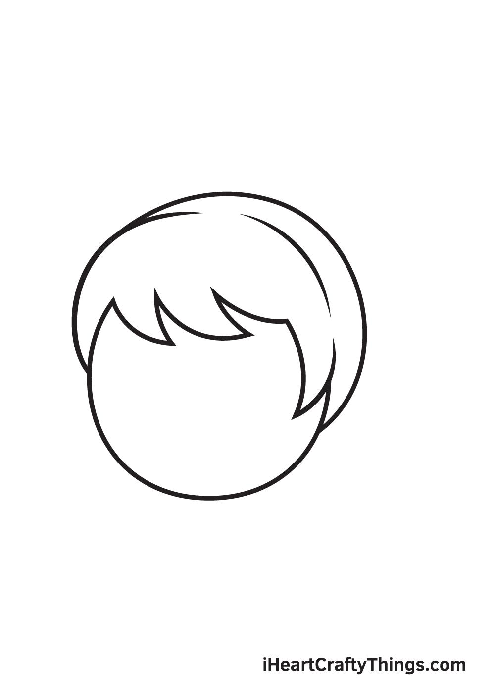 ponytail drawing step 4