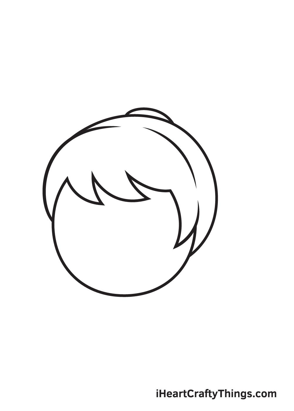 ponytail drawing step 5