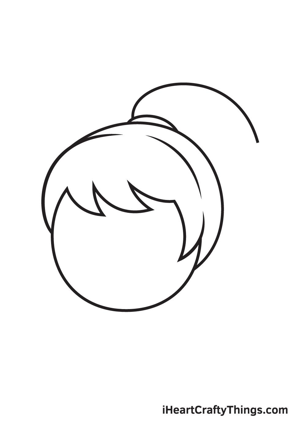 ponytail drawing step 6