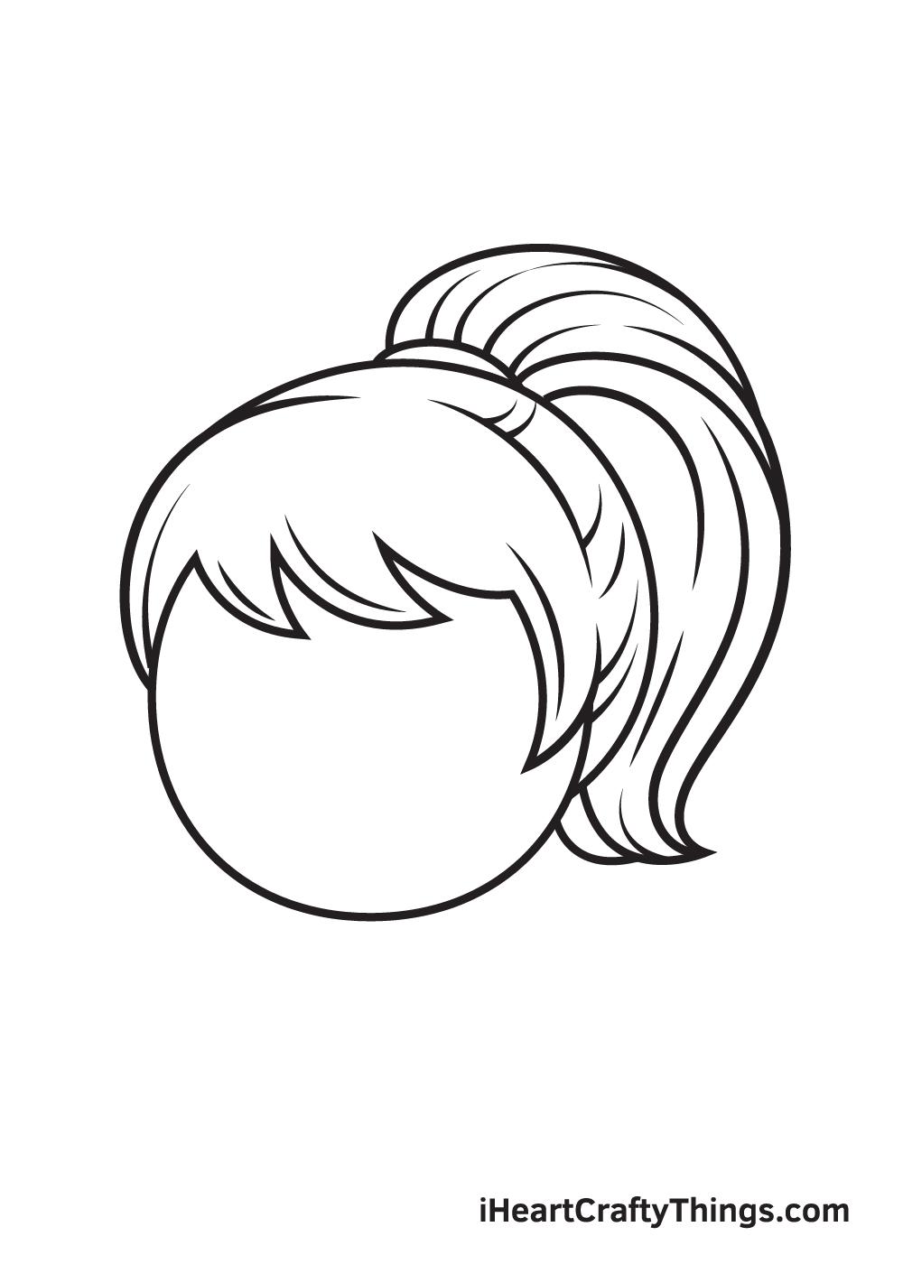 ponytail drawing step 9