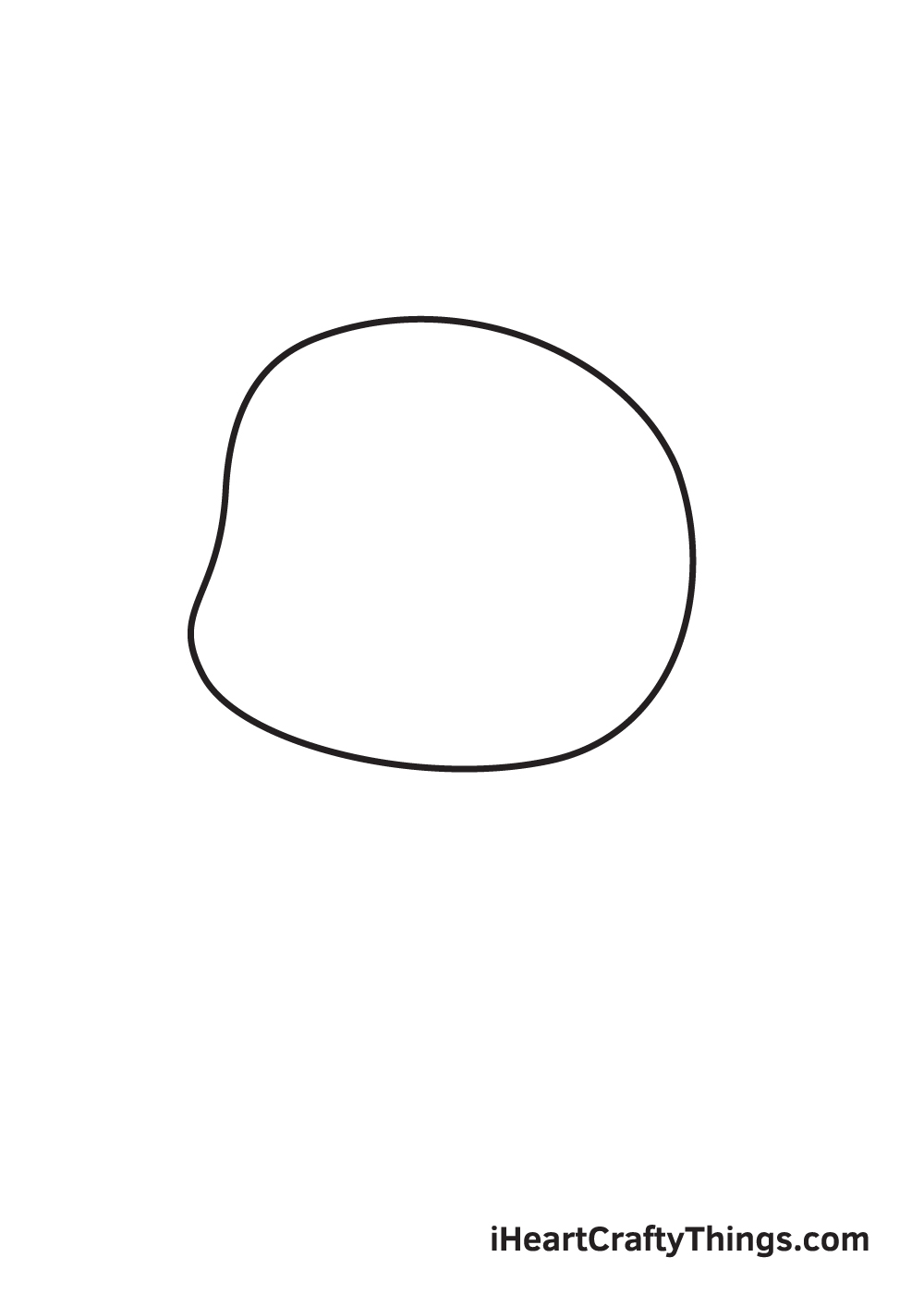 pug drawing step 1