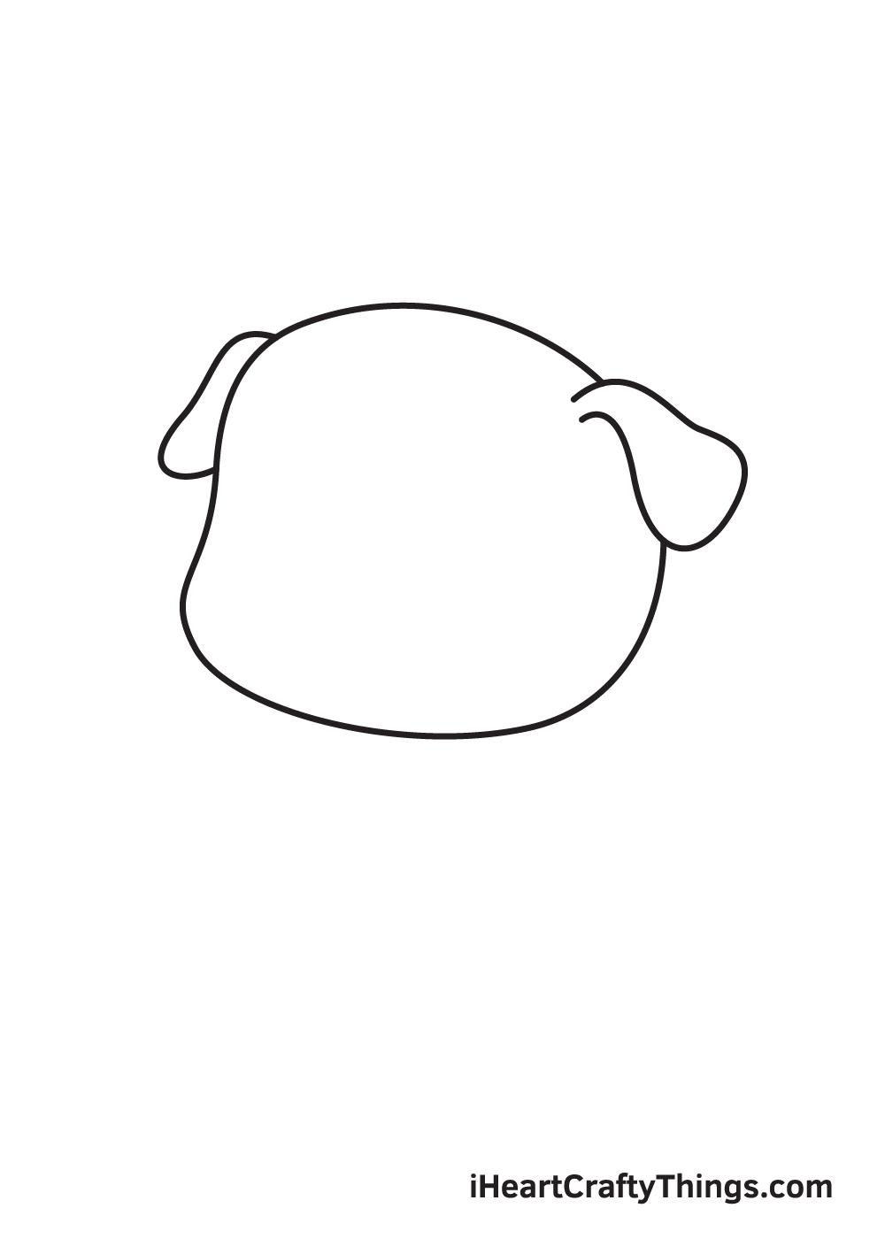 pug drawing step 2