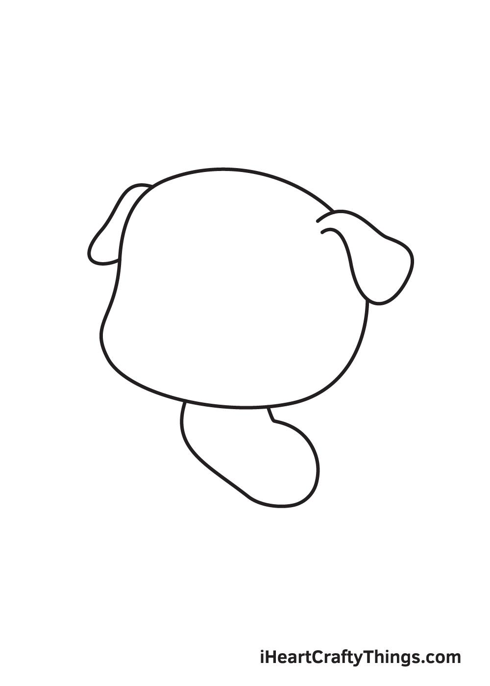 pug drawing step 3