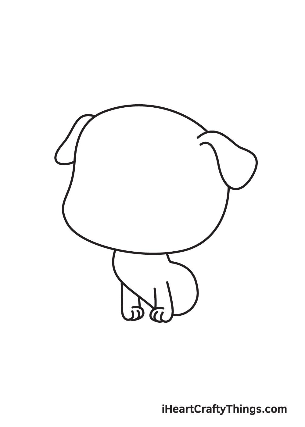 pug drawing step 4