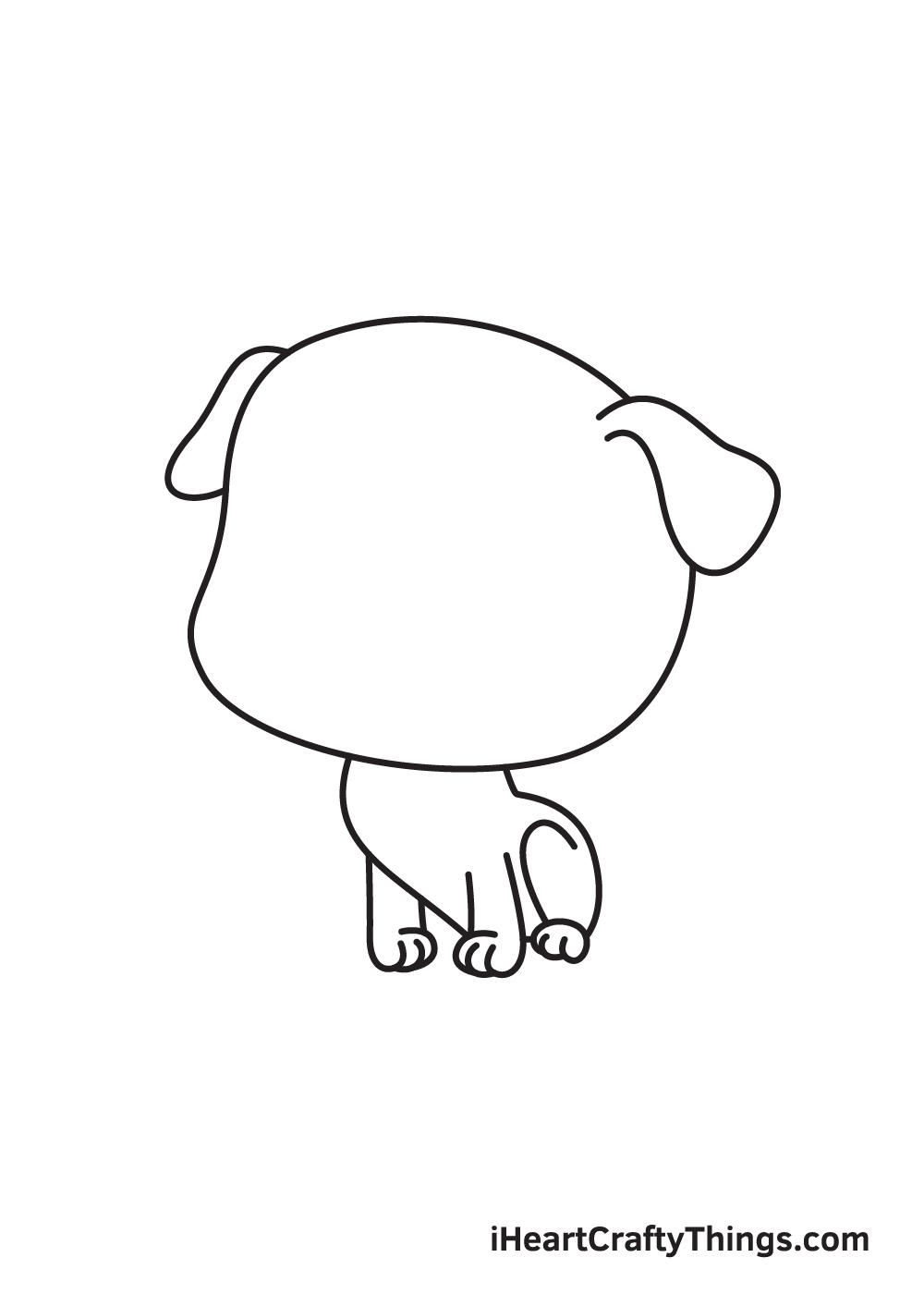 pug drawing step 5