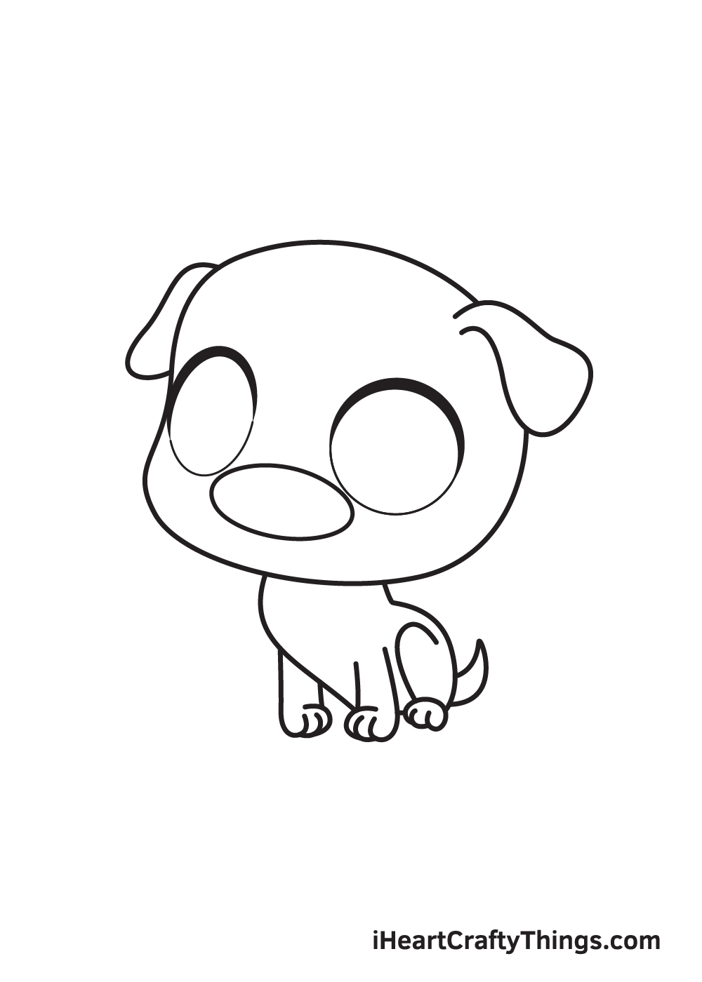 pug drawing step 7
