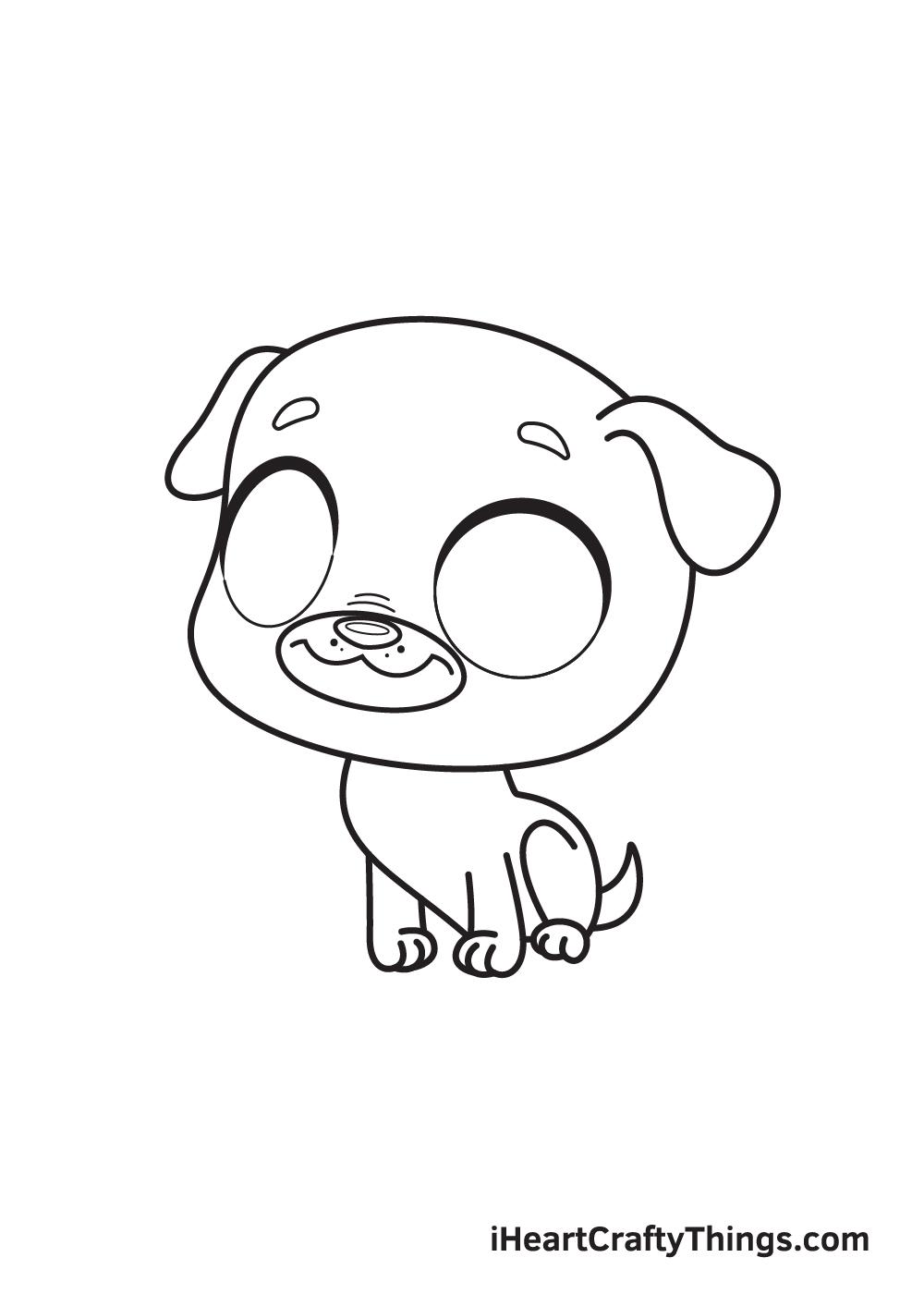 pug drawing step 8