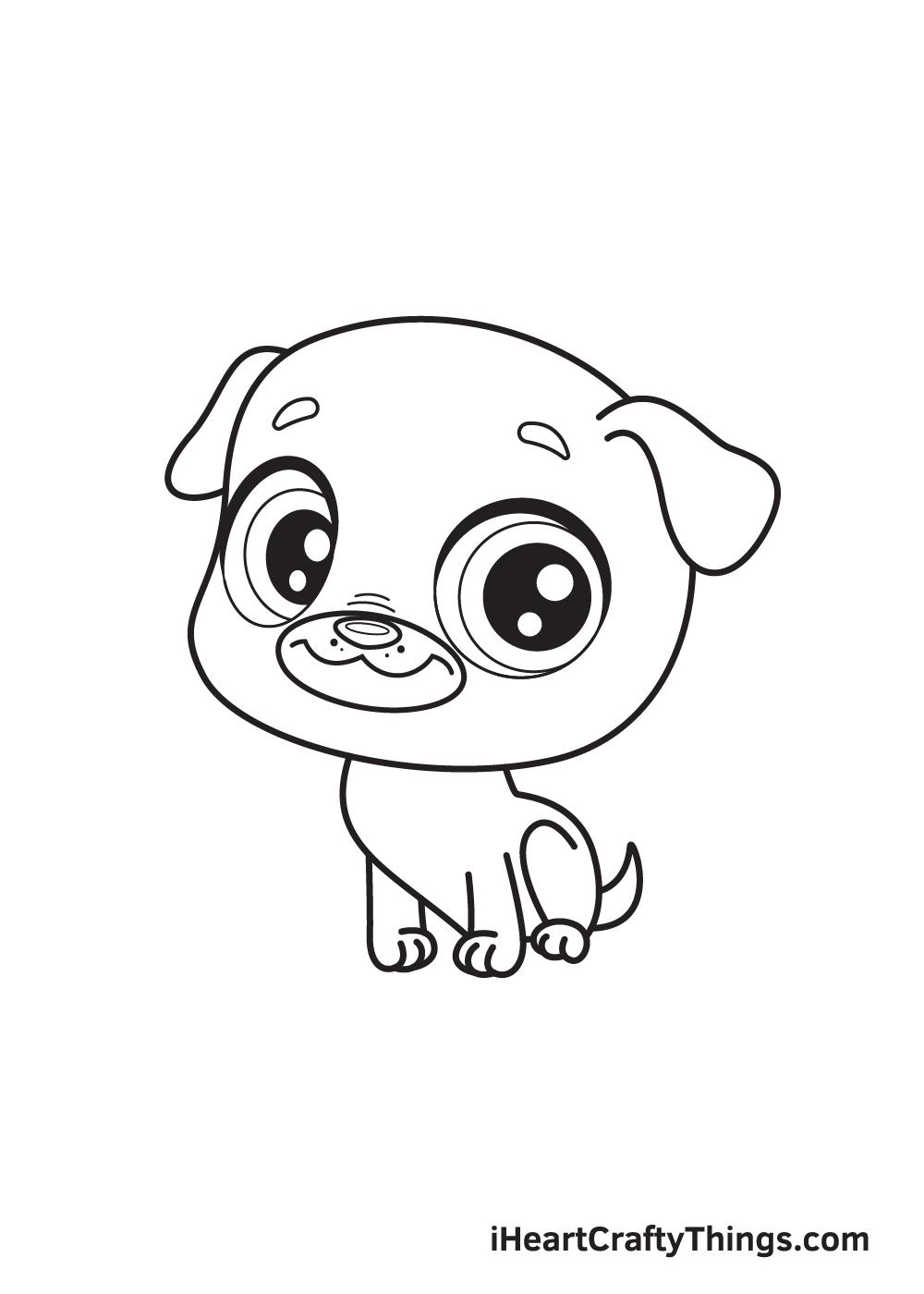 pug drawing step 9