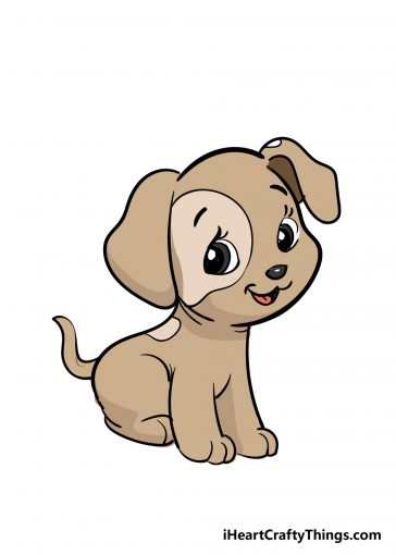 how to draw puppy image