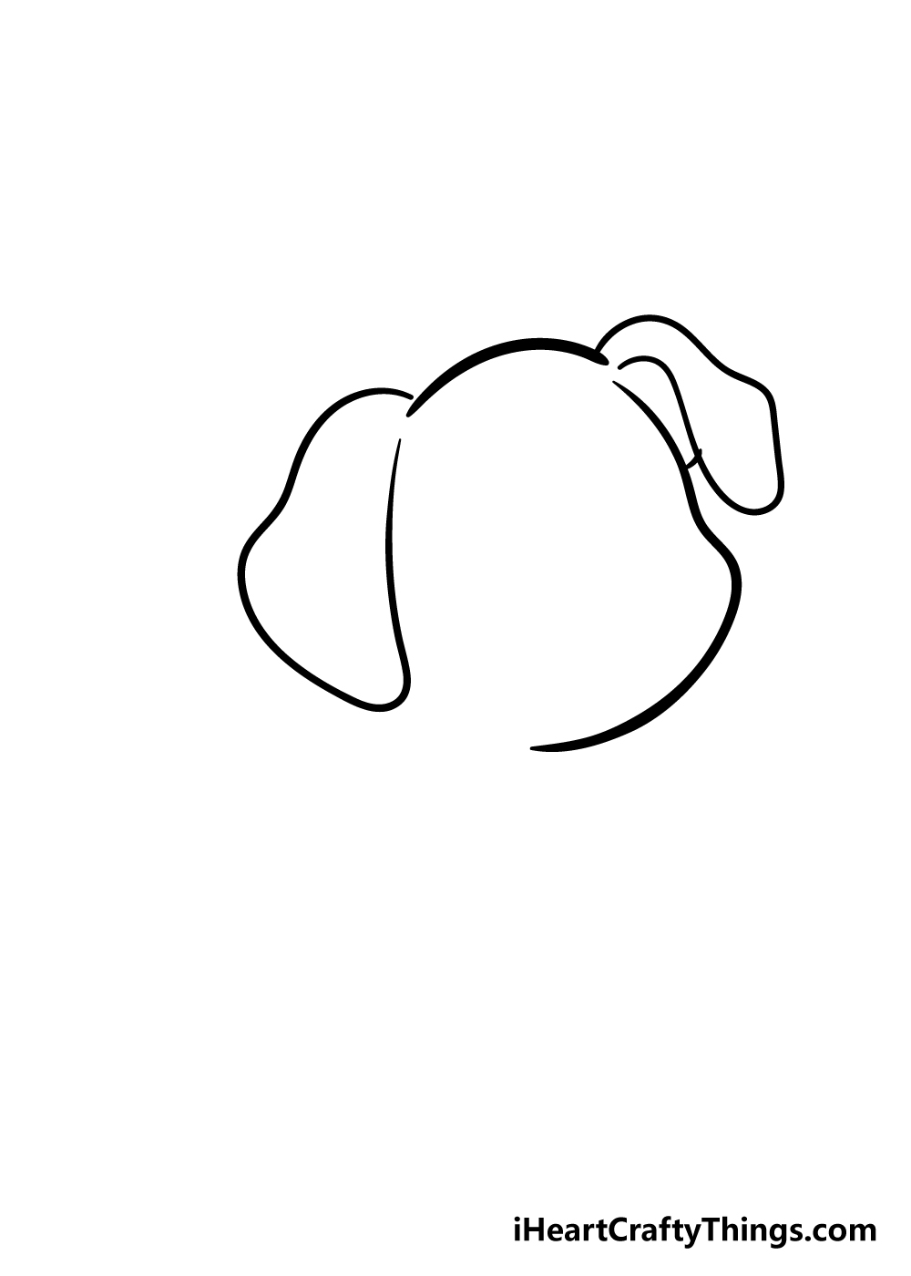 puppy drawing step 3