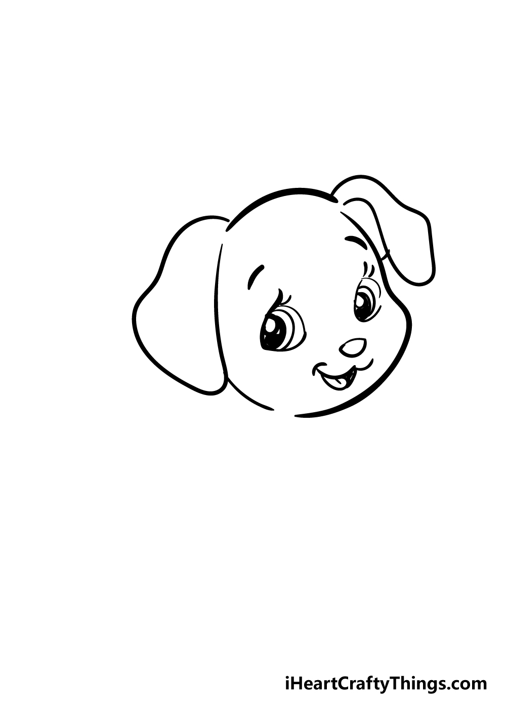 puppy drawing step 4