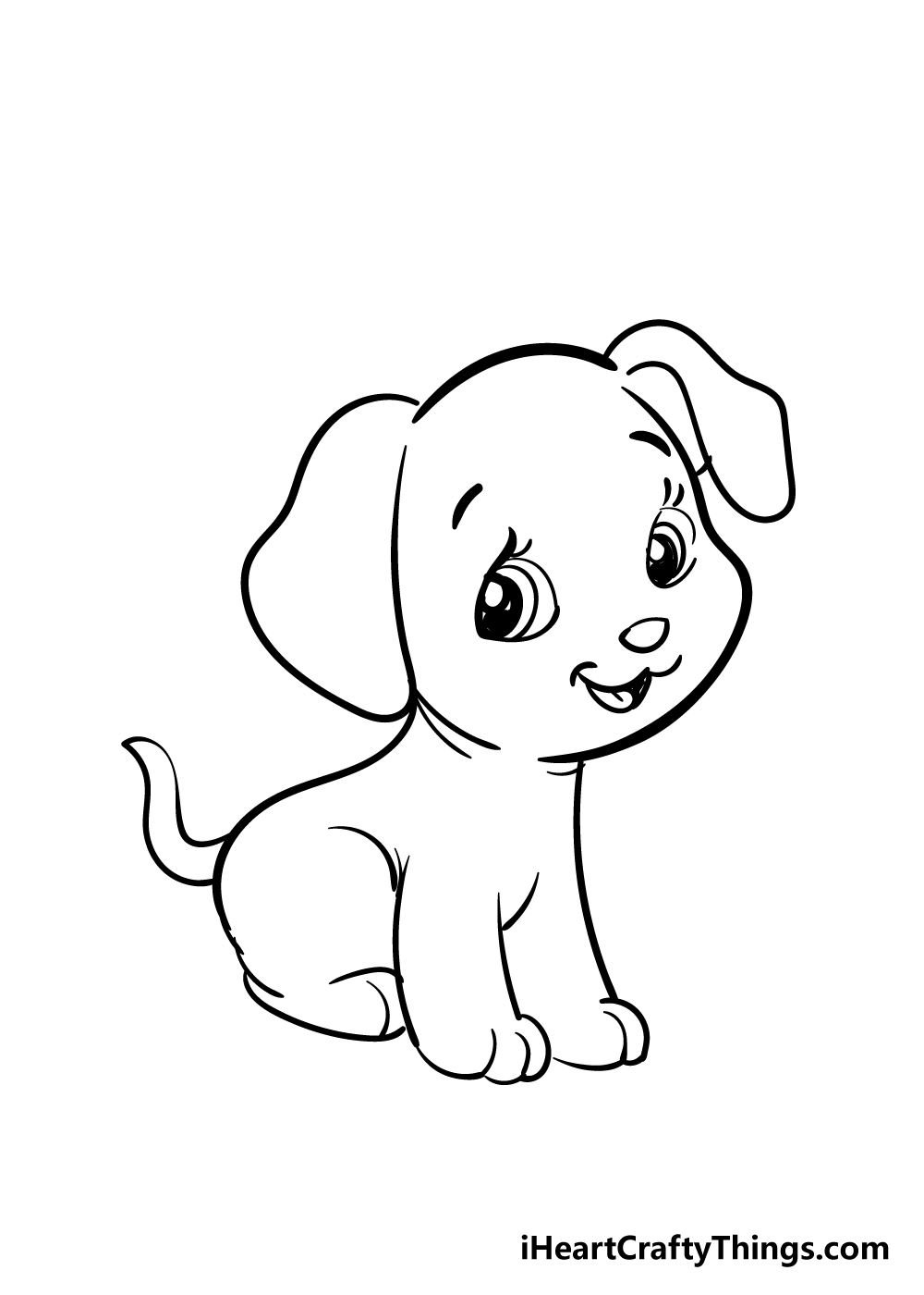 puppy drawing step 6