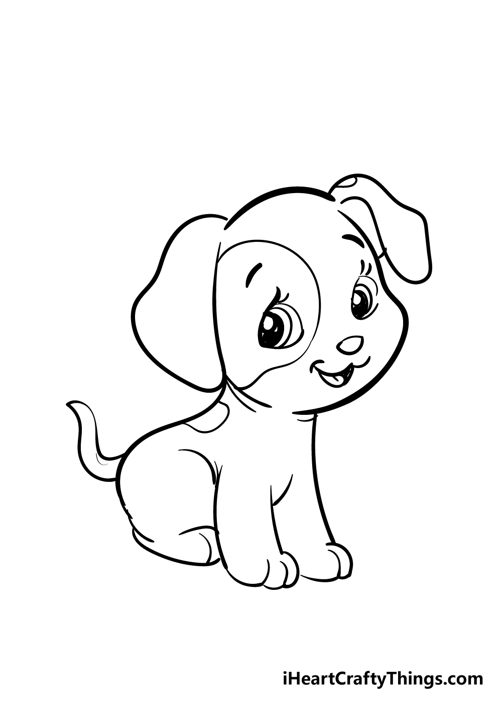 puppy drawing step 7