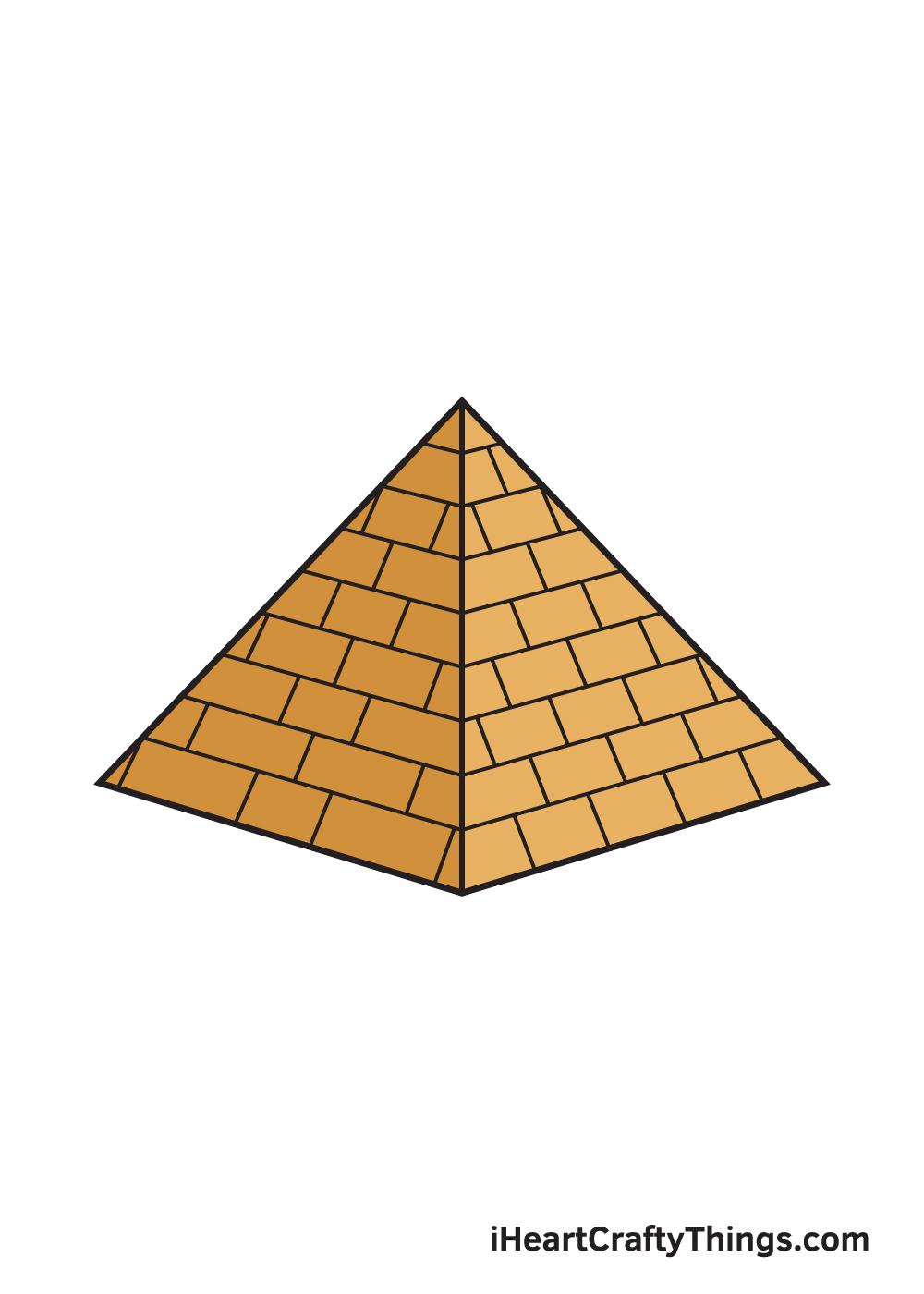 pyramid drawing 9 steps