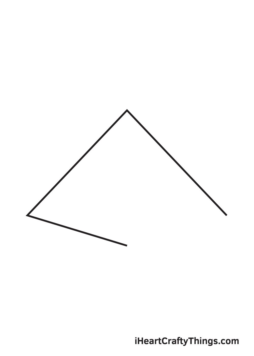 pyramid drawing step 3