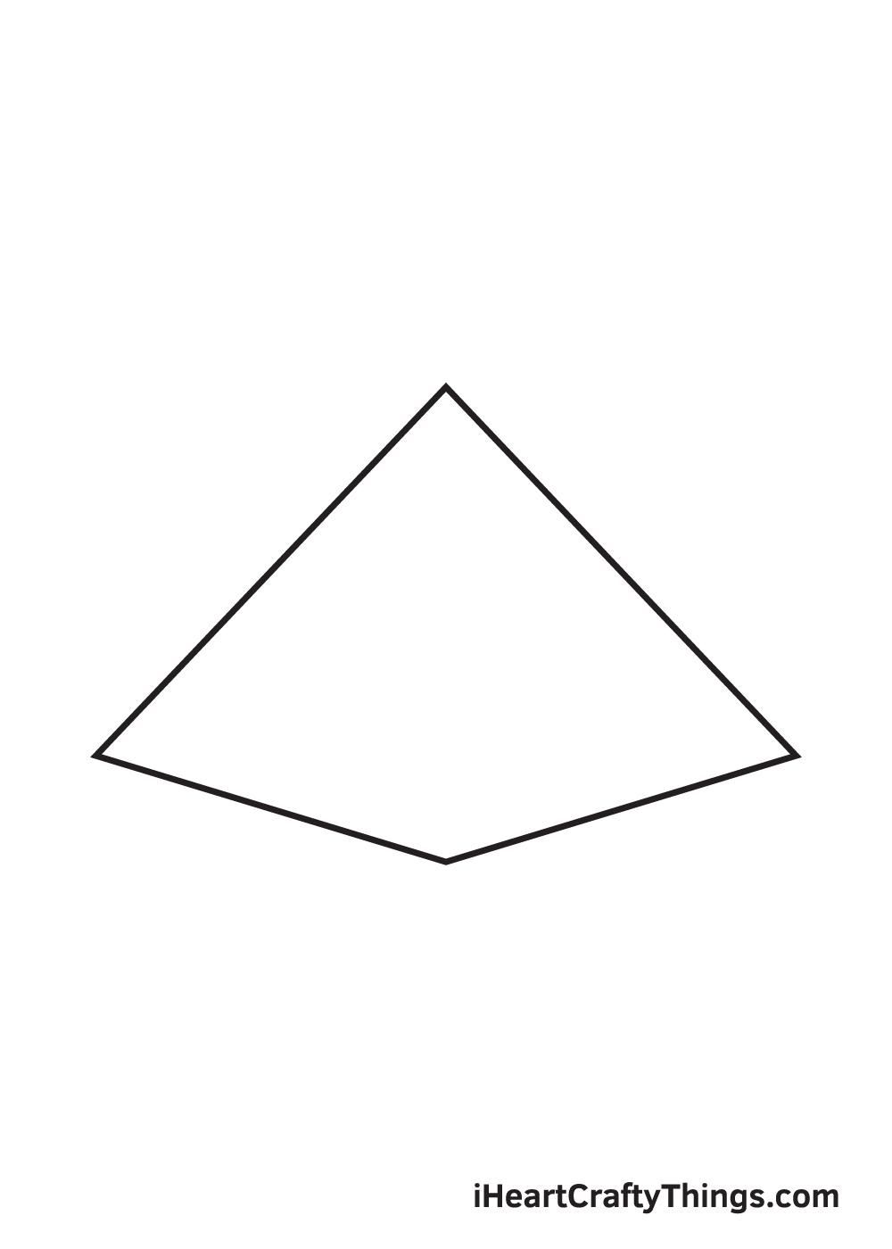 pyramid drawing step 4