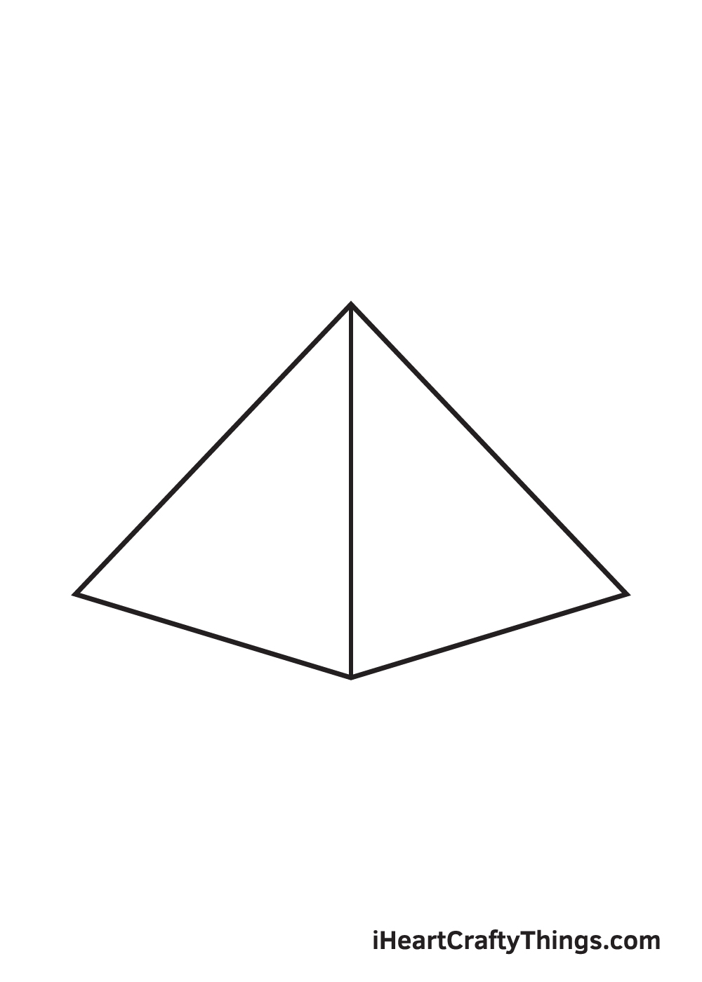 pyramid drawing step 5