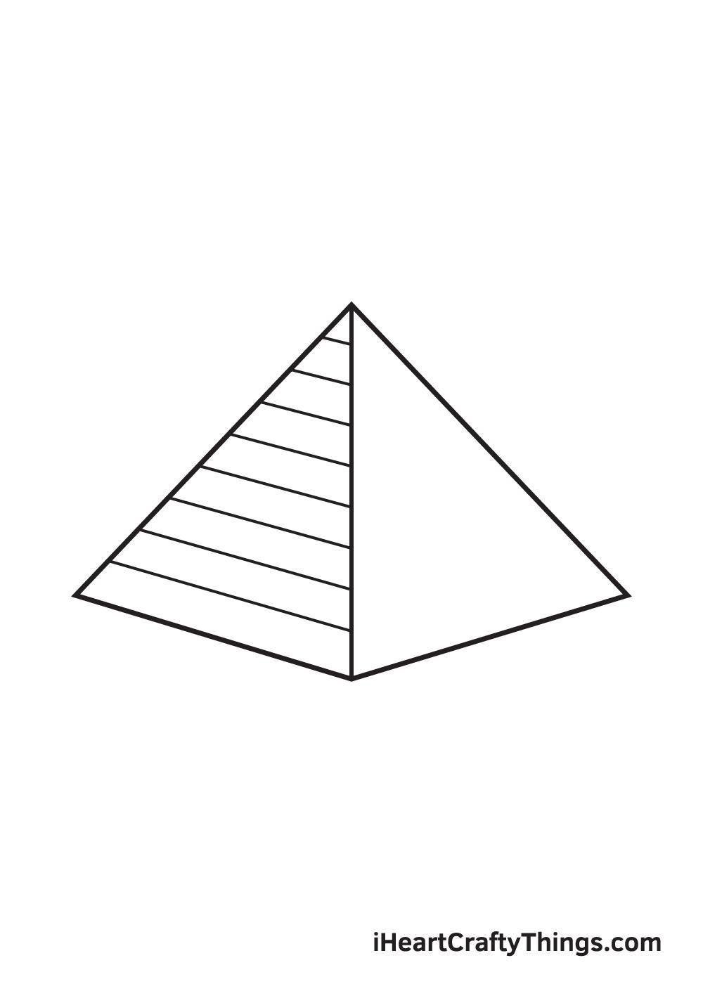 pyramid drawing step 6