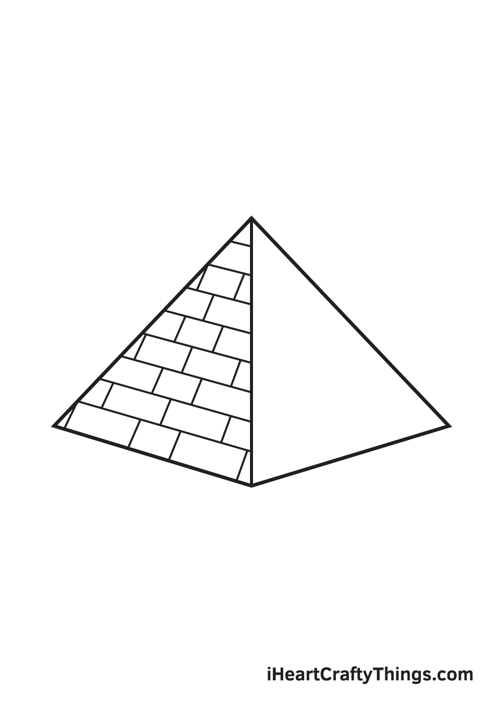 pyramid drawing step 7