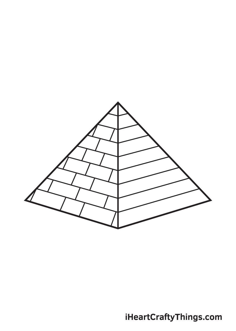 pyramid drawing step 8