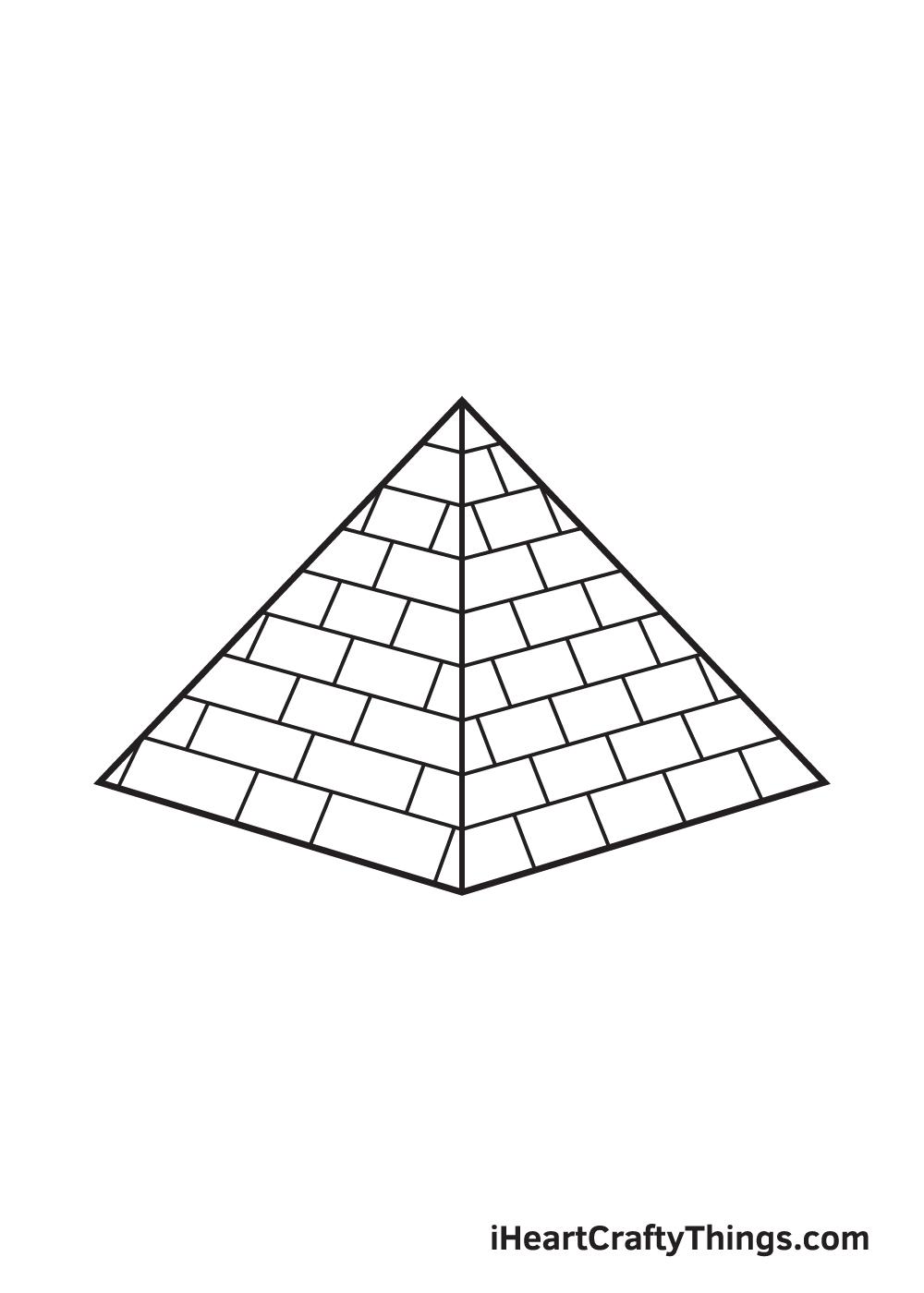 pyramid drawing step 9