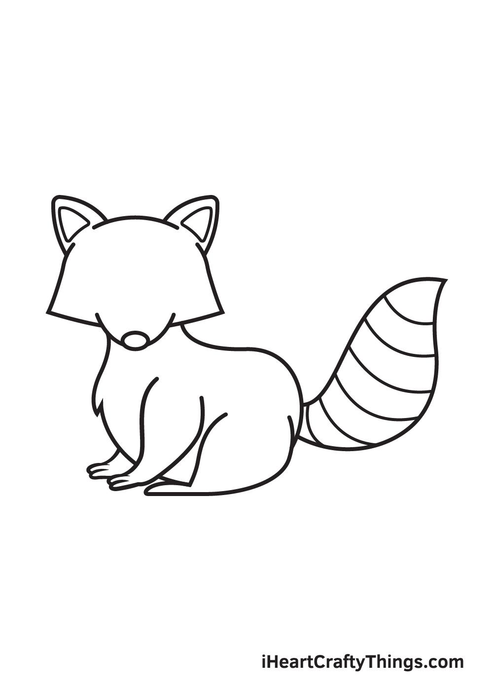 raccoon drawing step 8