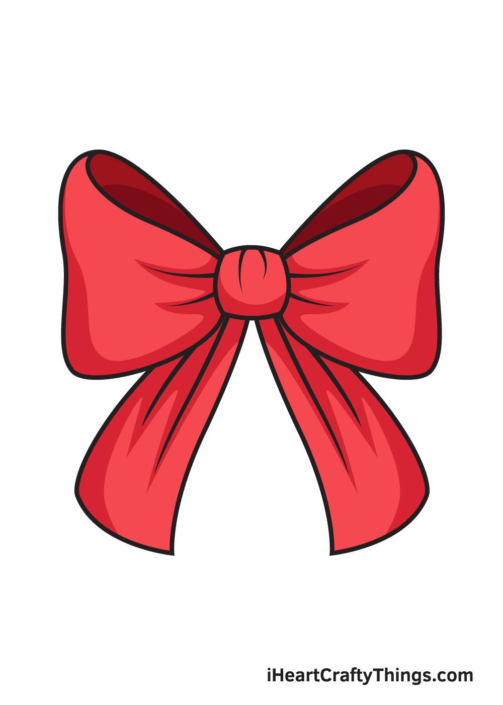 ribbon drawing 9 steps