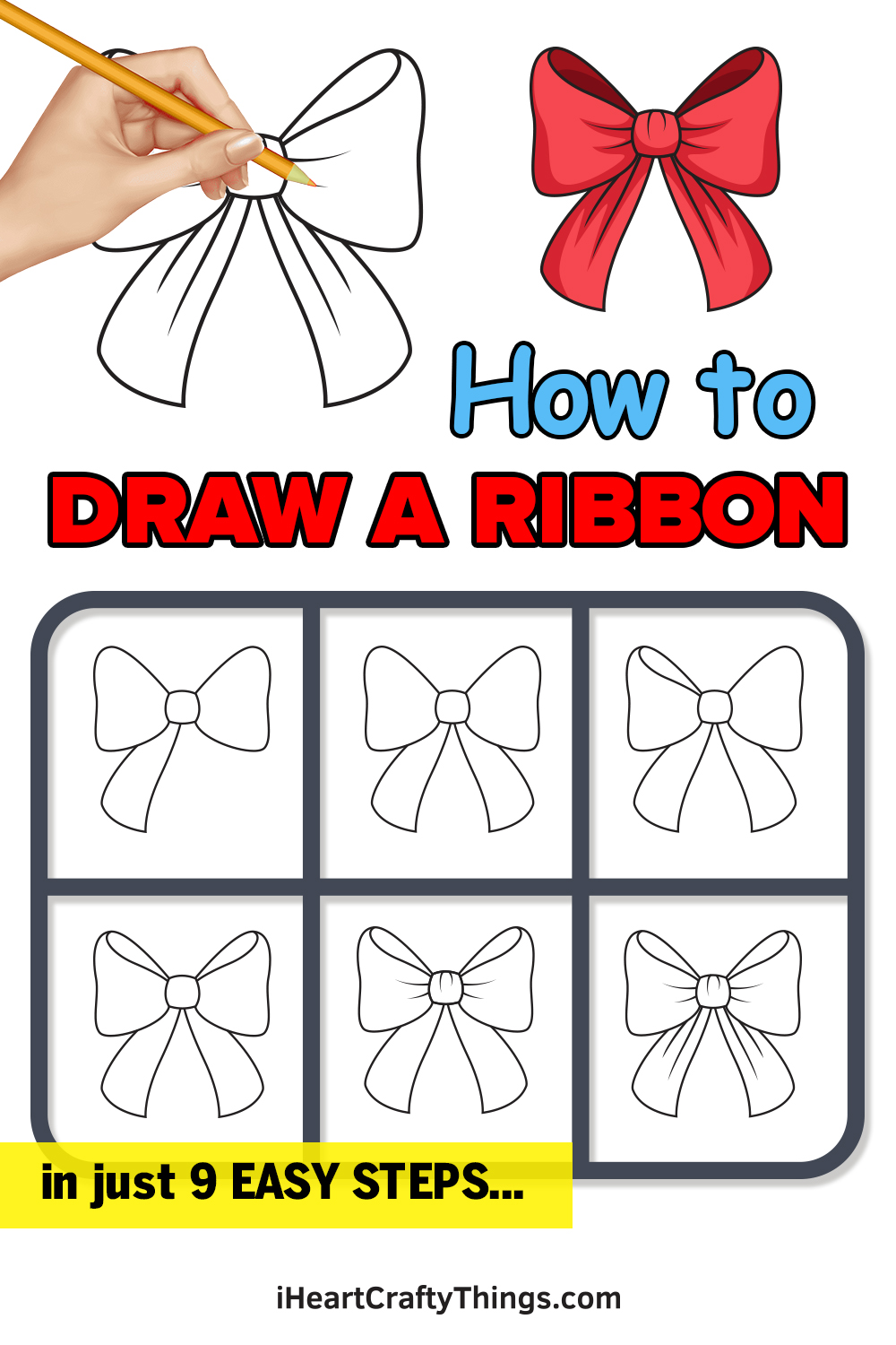 how to draw a ribbon in 9 easy steps