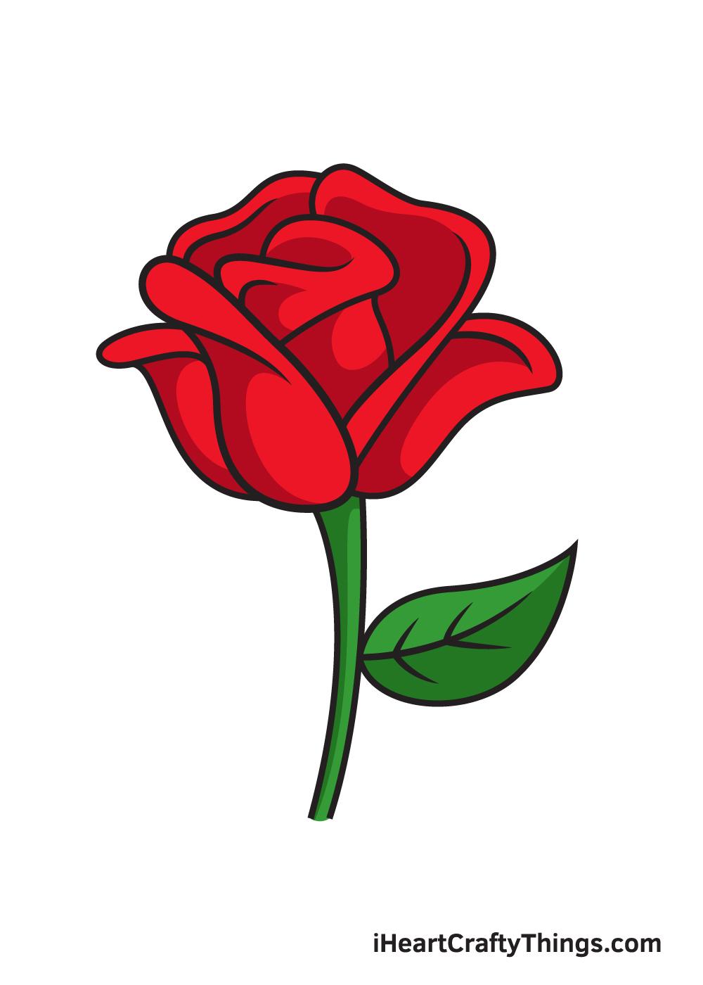 vẽ hoa hồng 9 bước