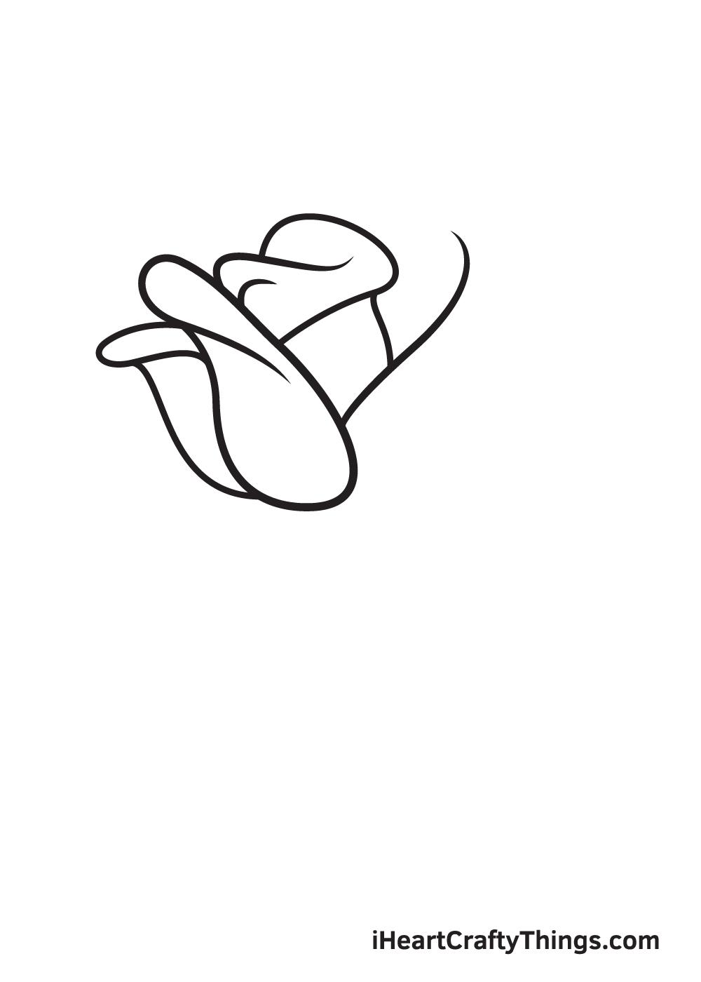 rose drawing step 4
