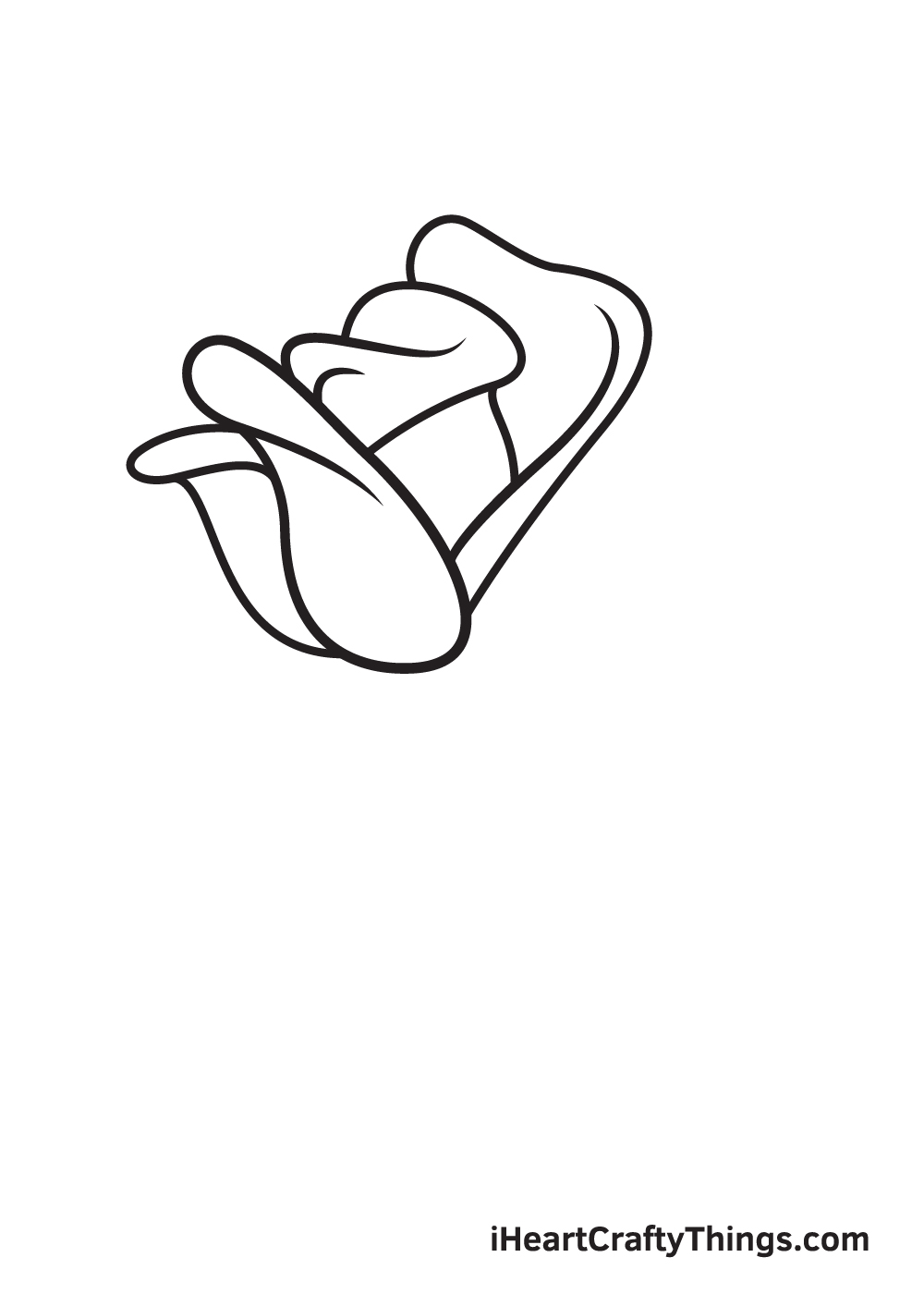 rose drawing step 5