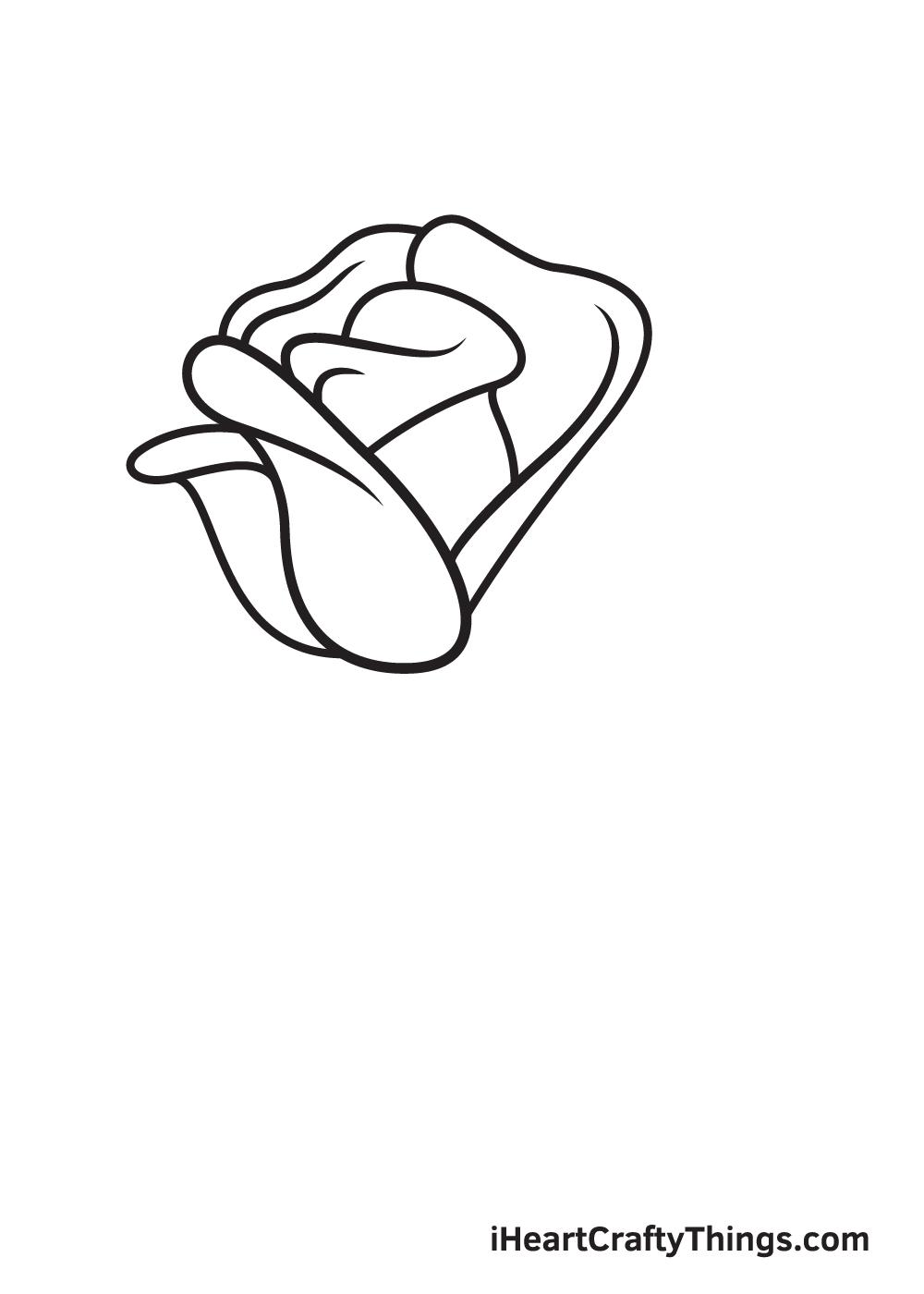 rose drawing step 6