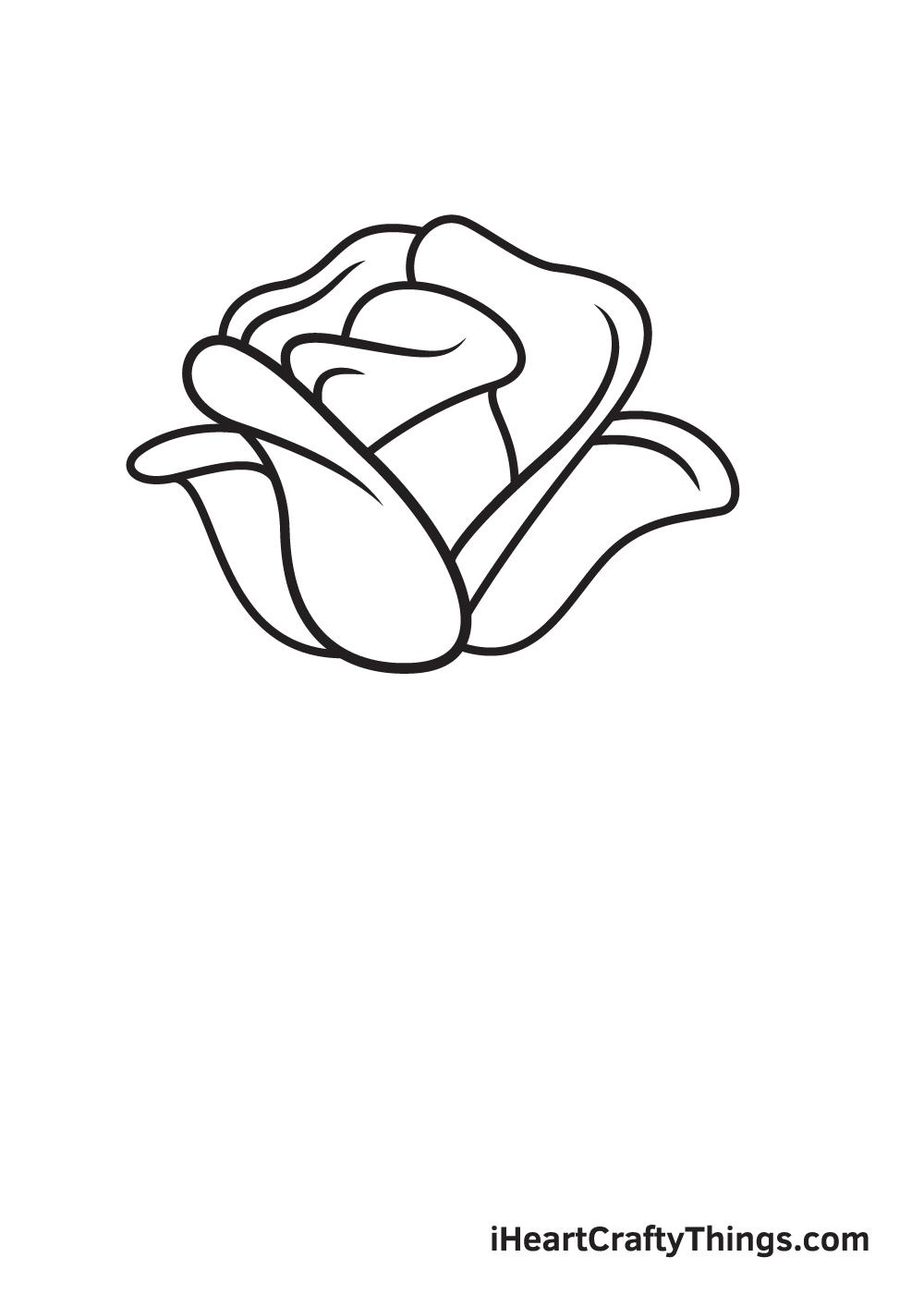 rose drawing step 7