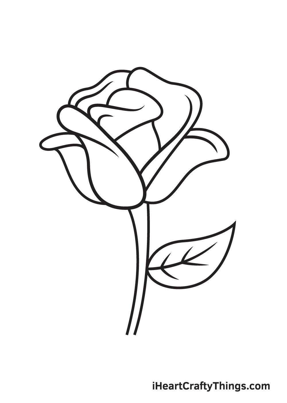 rose drawing step 9