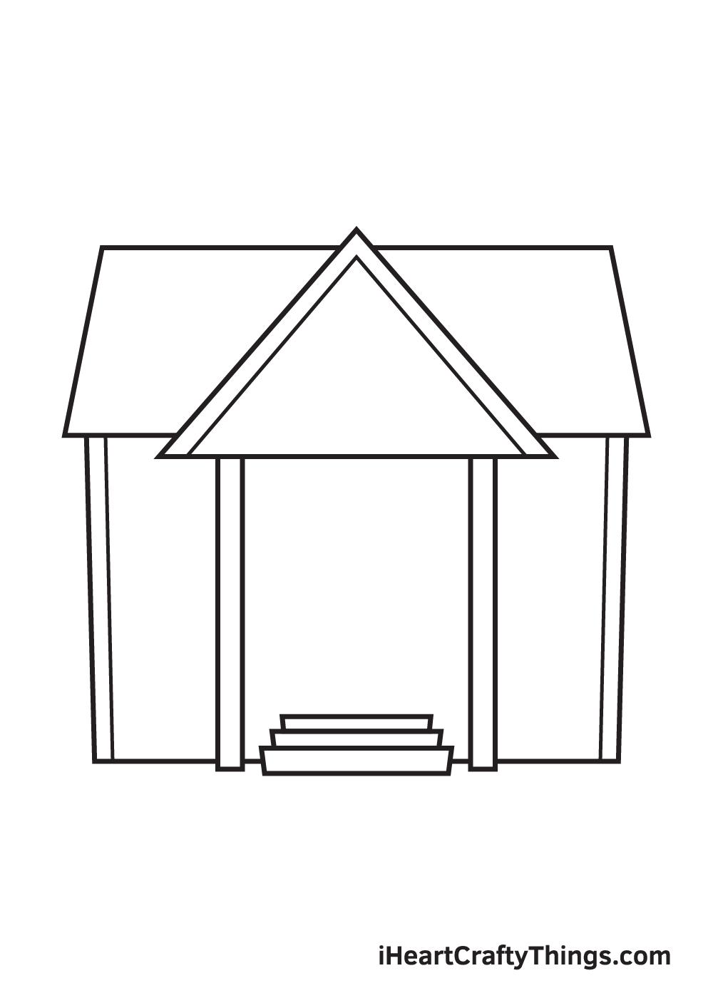 school drawing step 5