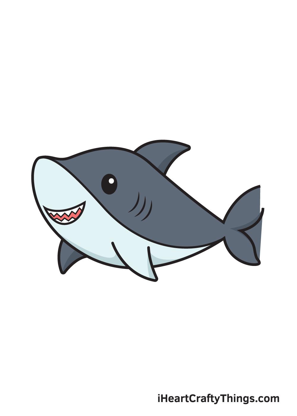 shark drawing 9 steps