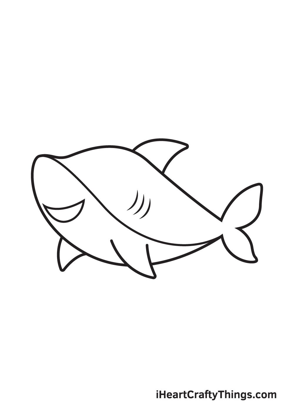 shark drawing step 8