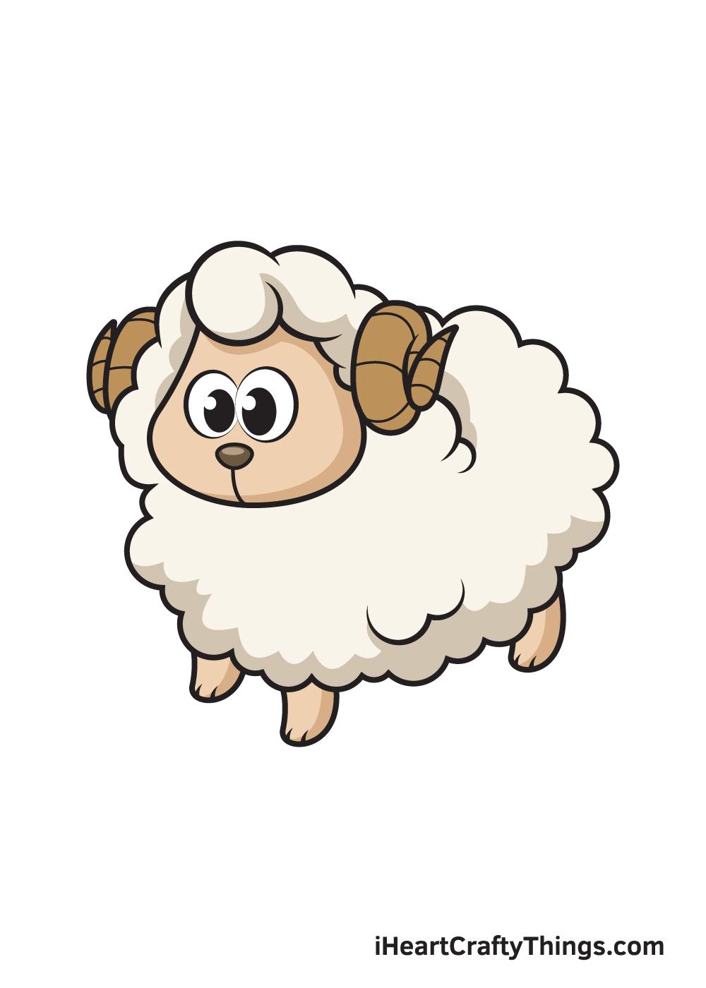 sheep drawing 9 steps