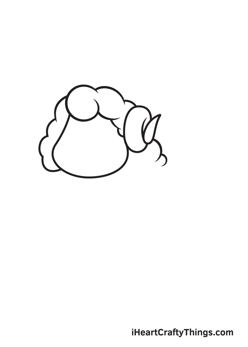 sheep drawing step  5