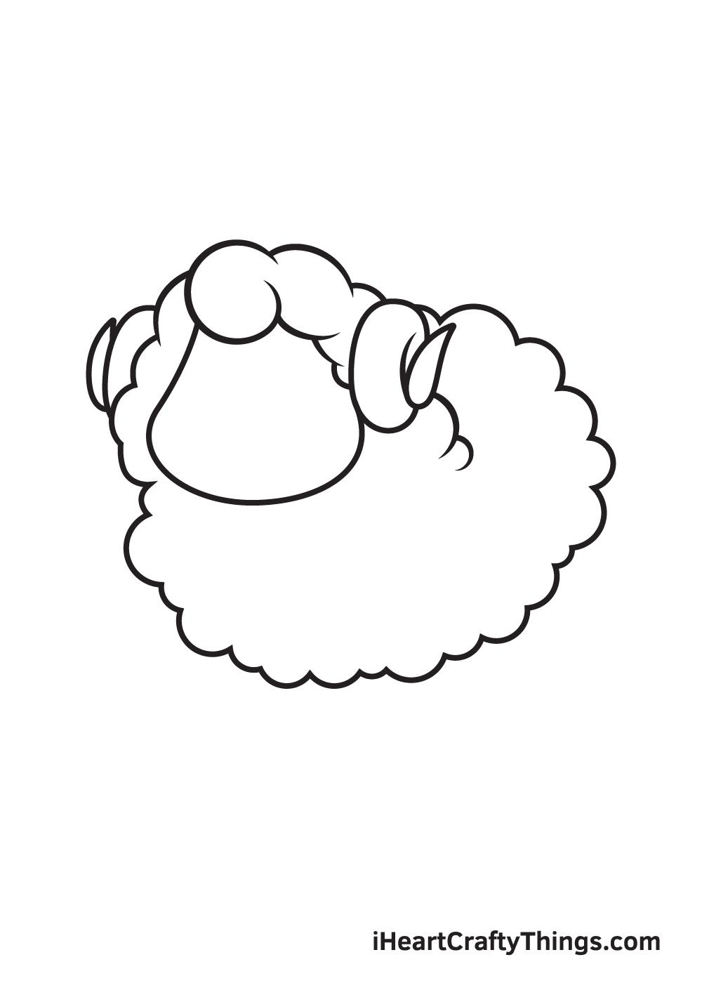 sheep drawing step 7