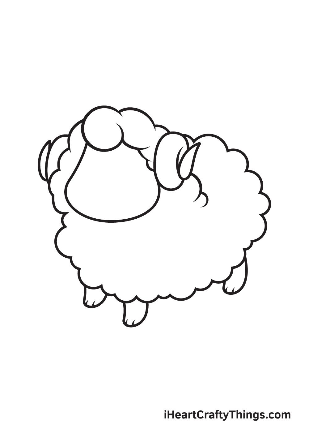 sheep drawing step 8