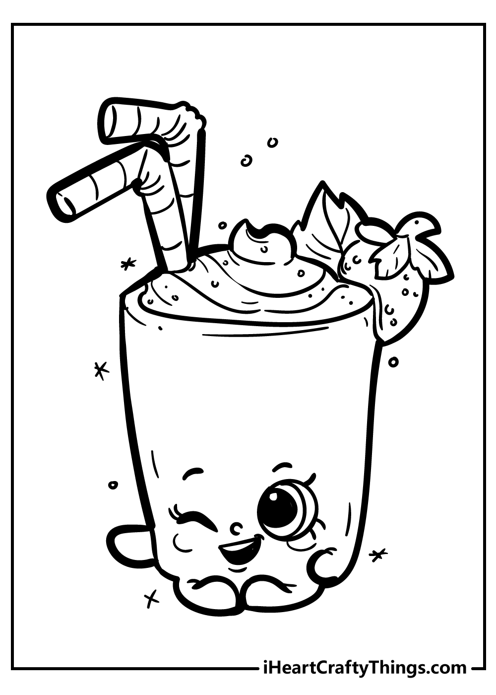 millie shake shopkins coloring pages free download
