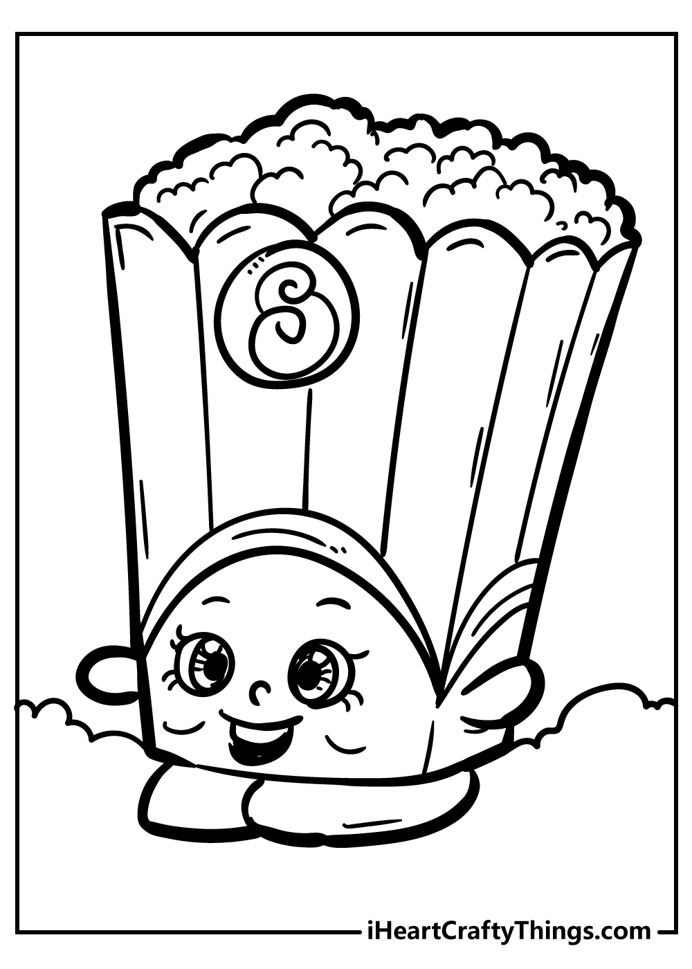 poppy corn shopkins coloring pages free printable for kids