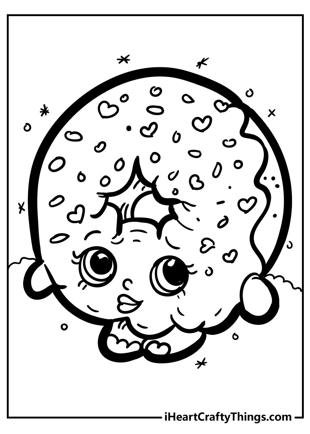 D'lish Donut shopkins coloring book free printable