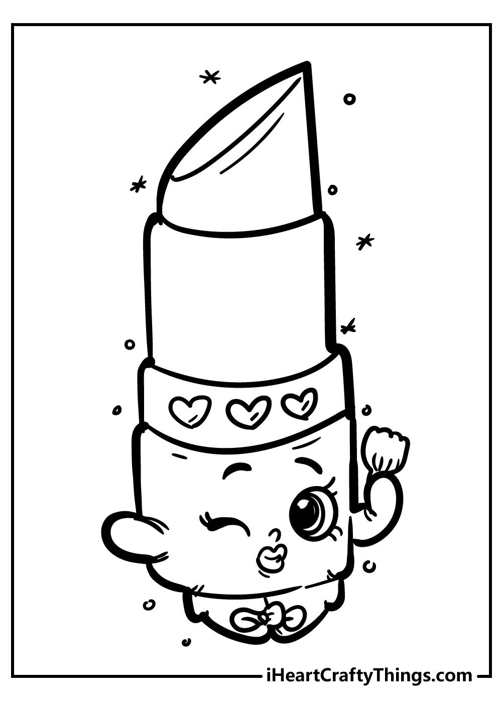 lippy lips shopkins coloring sheets free printable