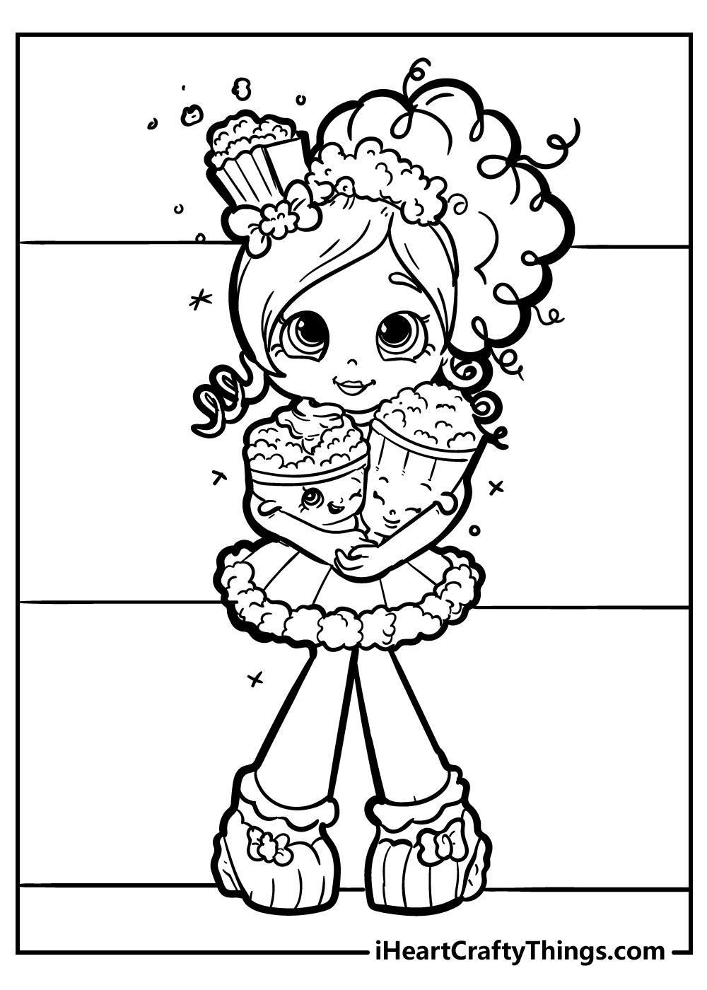 popette shopkins coloring book free printable