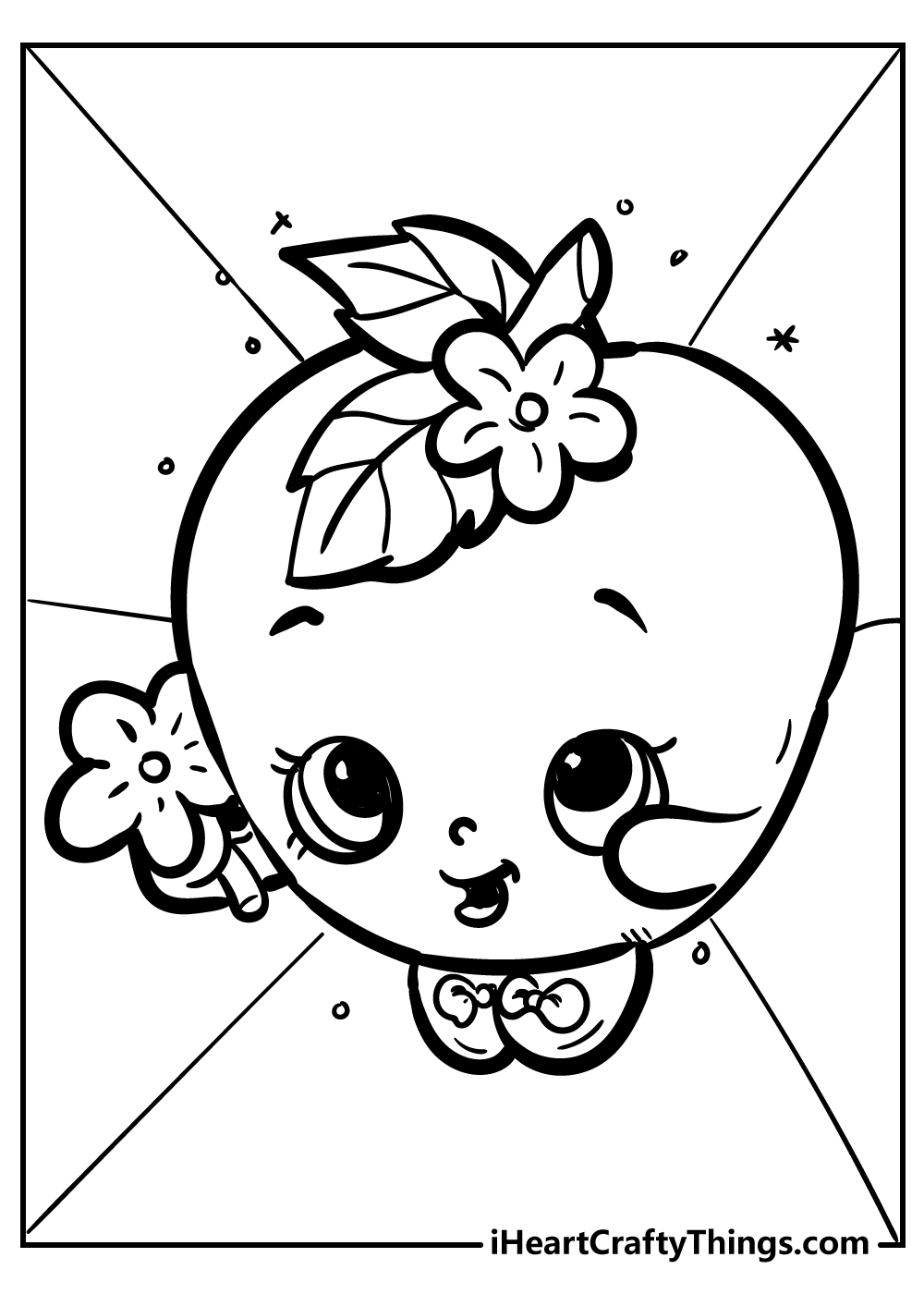apple blossom shopkins coloring pages free printable
