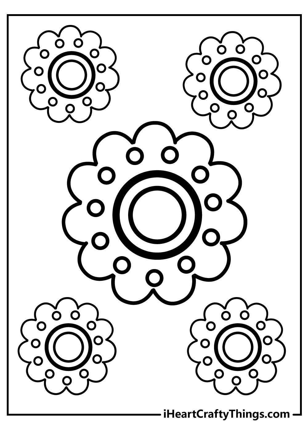 simple flower coloring pages free to print