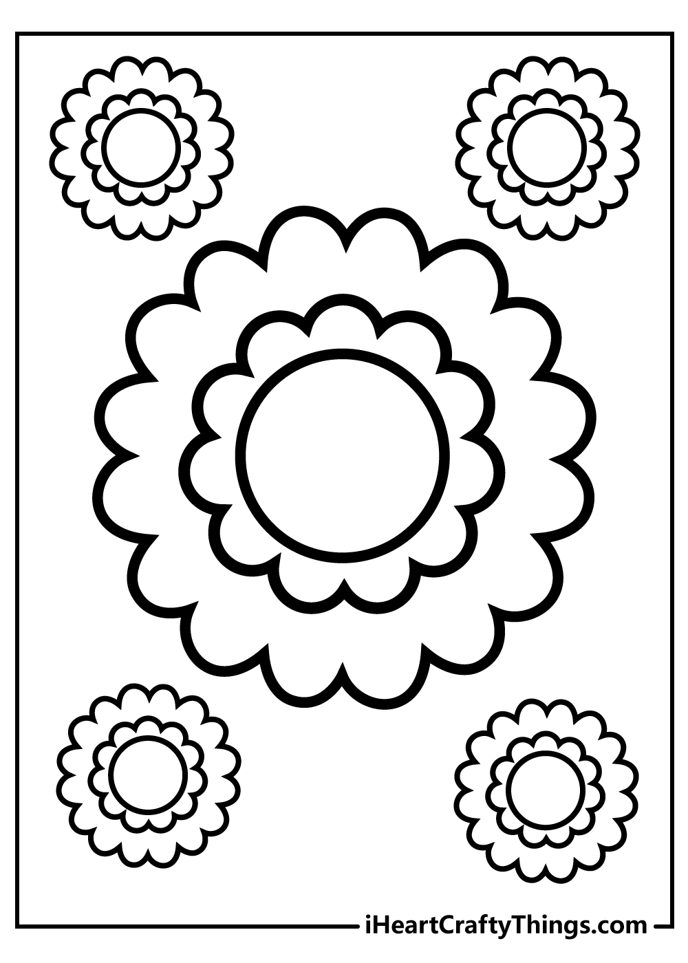 simple sunflower coloring pages for kids